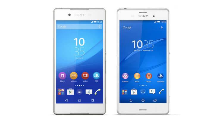 Sony Zperia Z4 и Z3