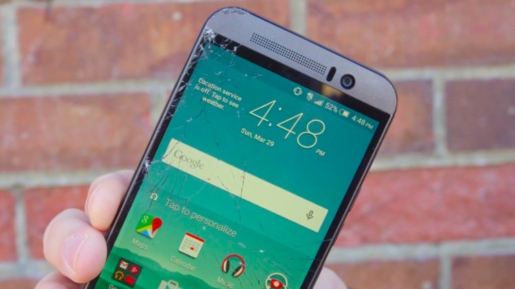 Cracked HTC One M9