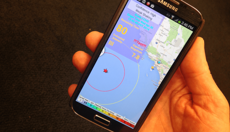 smartphone earthquake sensor