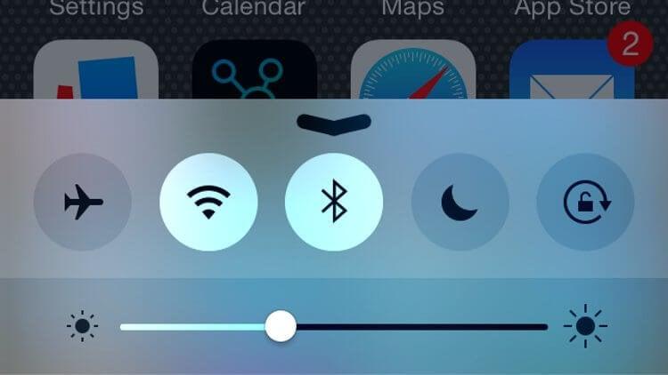 iOS Control Center