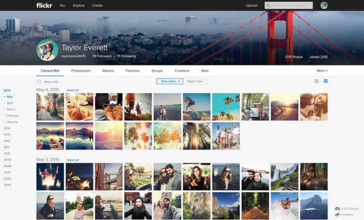 Flickr Web Camera Roll