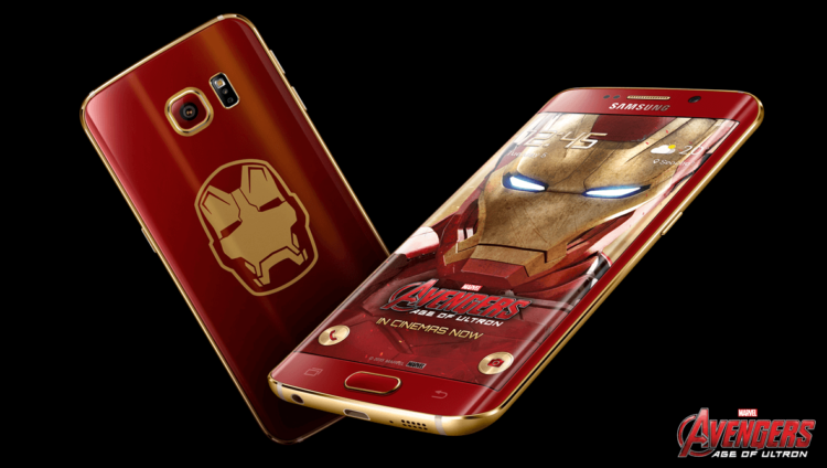 galaxy s6 edge avengers iron man