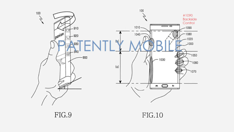Samsung патентует боковые сенсорные элементы управления смартфоном