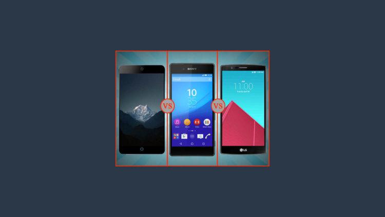 Сравнение Meizu MX5 с Sony Xperia Z3+ и LG G4