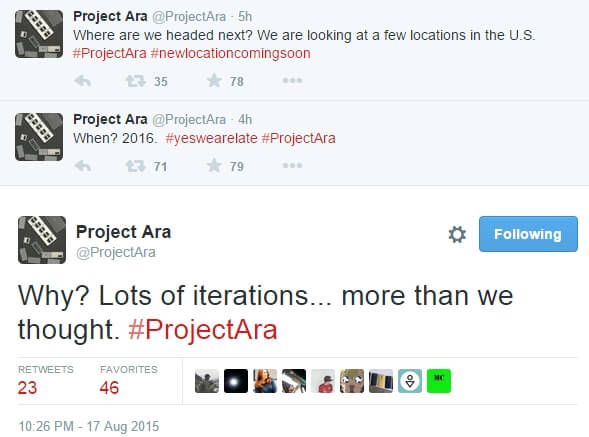 Google  Project Ara delayed