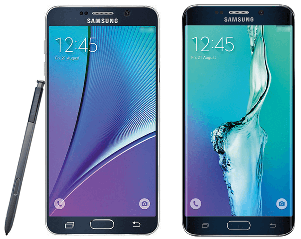 galaxy note 5 and galaxy s6 plus