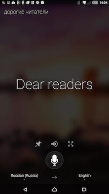 Скриншот Microsoft Translator