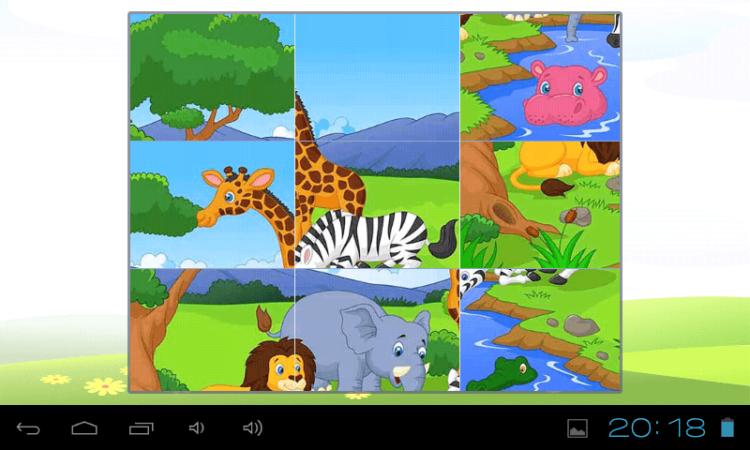Animal Cartoon Puzzle