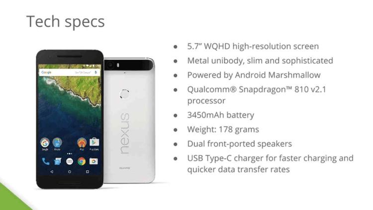 Nexus 6P Specs