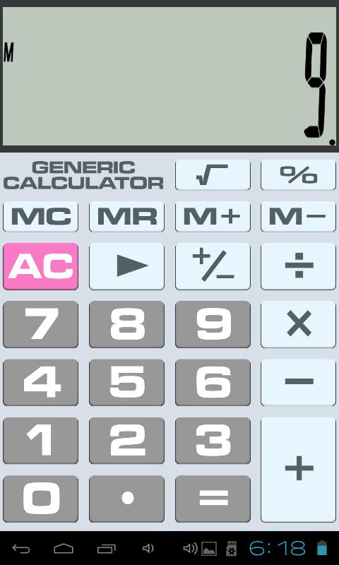 Generic Calculator