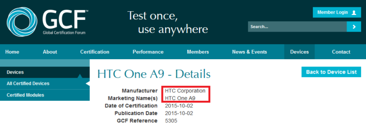 HTC-One-A9-receives-GCF-certification — копия