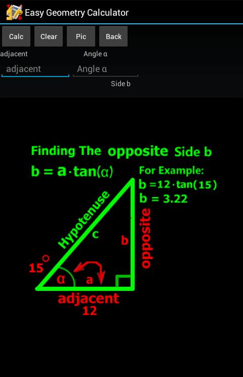 Easy Geometry Calculator