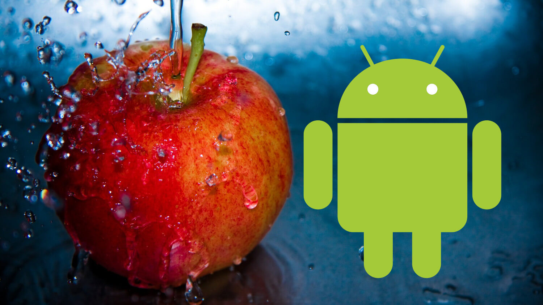 Android и яблоко