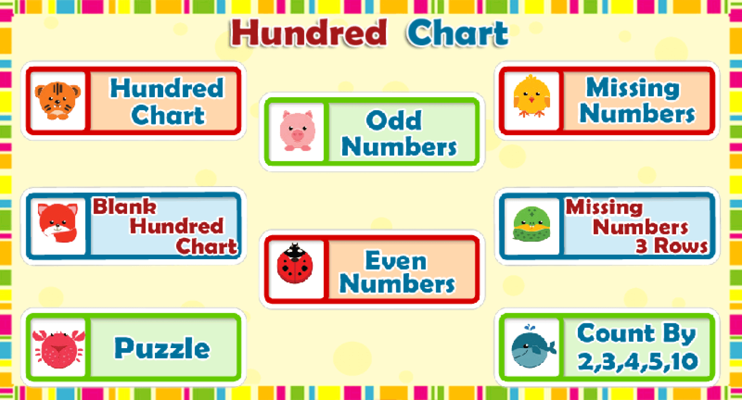 Kids Counting Hundred Chart