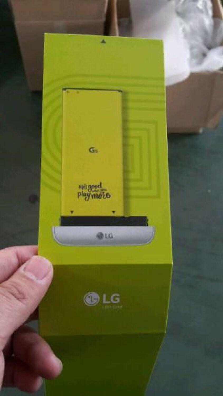 Якобы съемная батарея LG G5