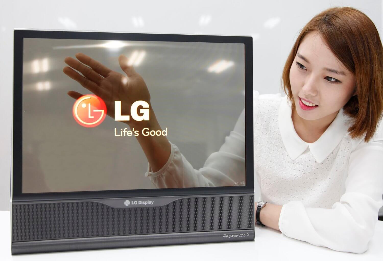 Прозрачный OLED-дисплей LG