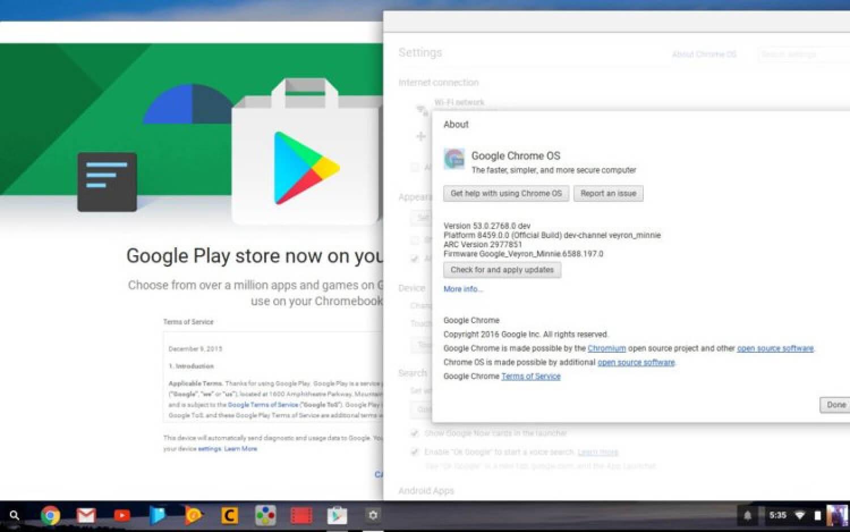 Android-приложения на Chromebook