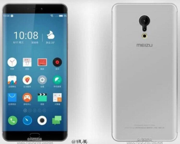 Рендер предположительно Meizu Pro 6 Plus