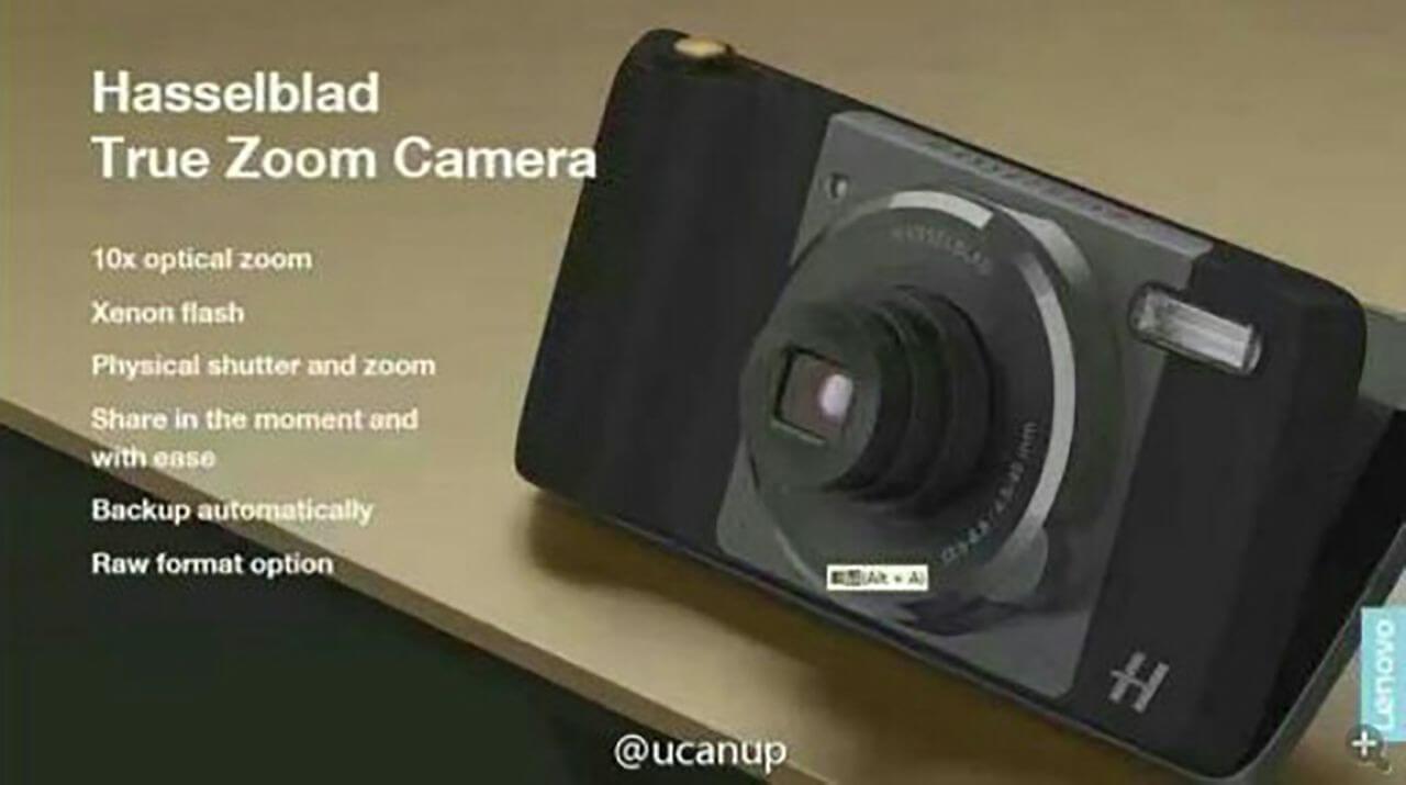 Предположительно модуль камеры Moto Mod, созданный Hasselblad