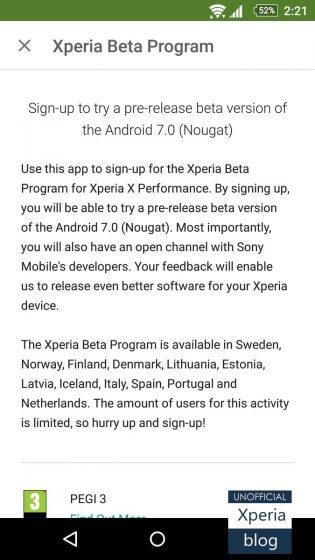Xperia-X-Performance-Beta-Program