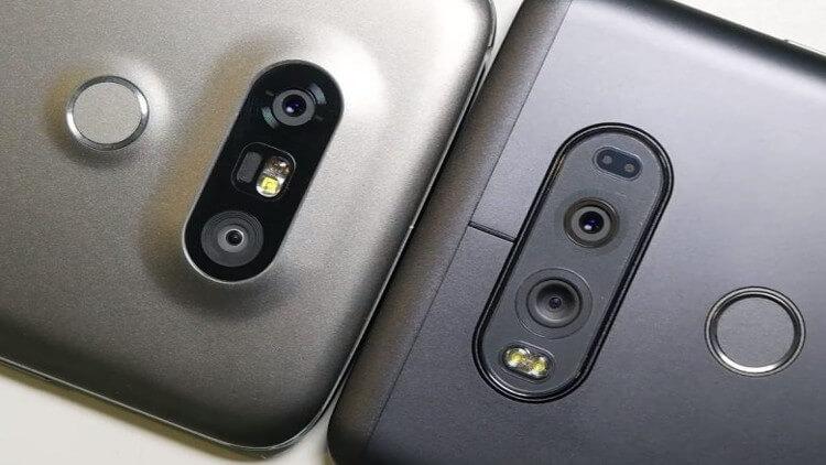 Камеры LG V20 и LG G5