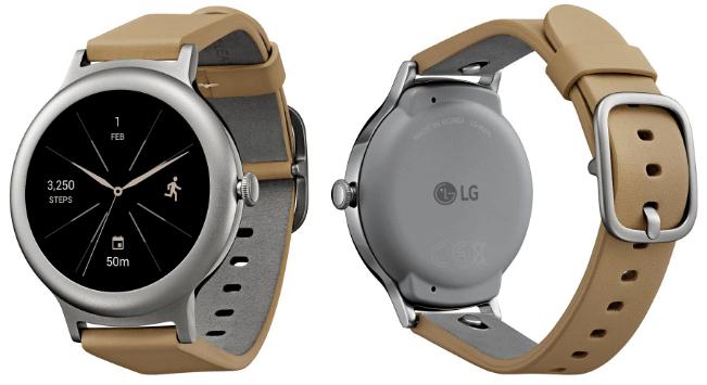 Предположительно LG Watch Style серебристого цвета