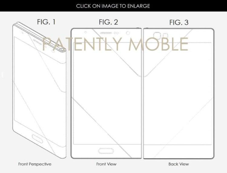 Патент Samsung - складываемый девайс