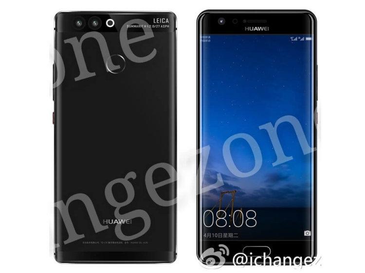 Предположительно рендер Huawei P10 Plus