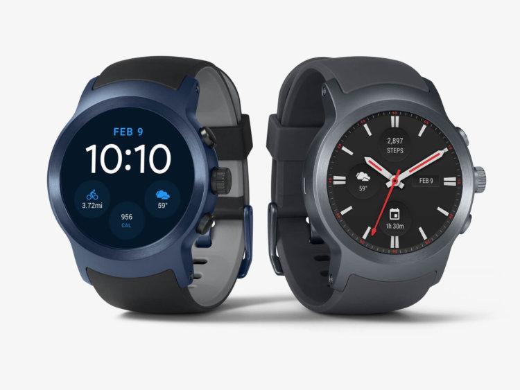 Смарт-часы LG Watch Sport под управлением Android Wear 2.0