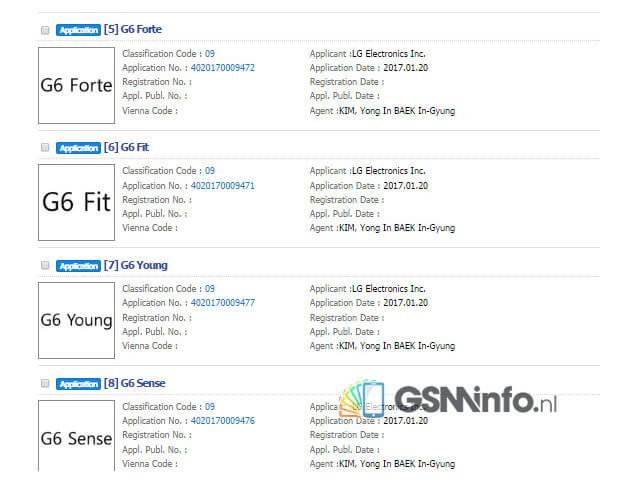 Торговые марки LG G6