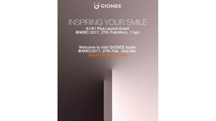 Предположительно тизер презентации Gionee A1 и A1 Plus, намеченной на 27 февраля 2017 года