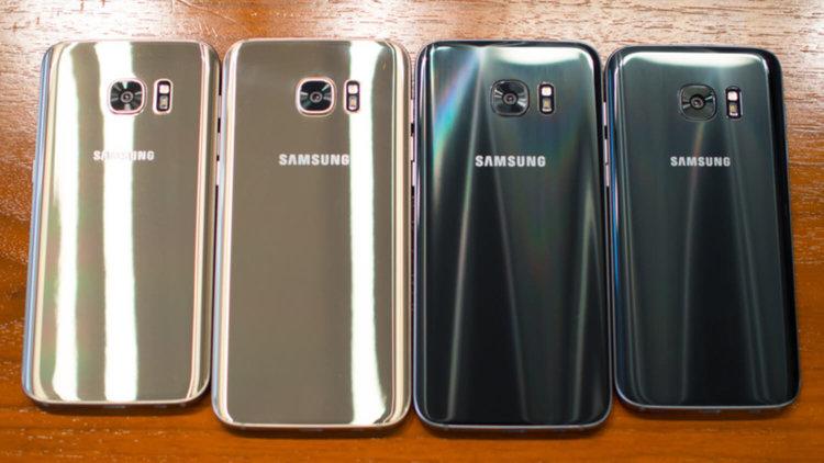 Задние панели Galaxy S7 и S7 edge