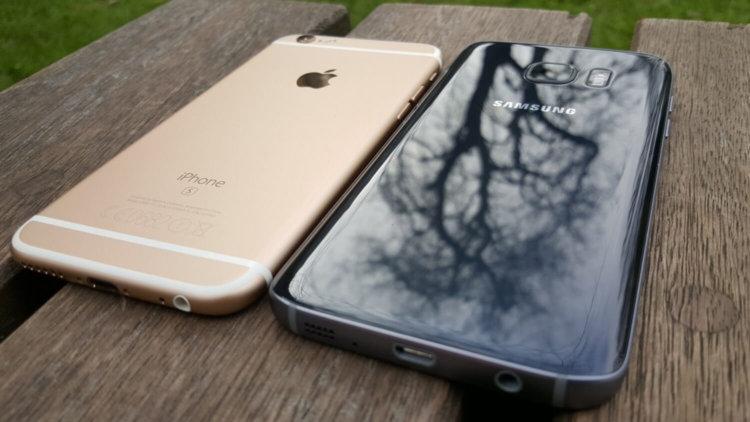 Samsung Galaxy и Apple iPhone