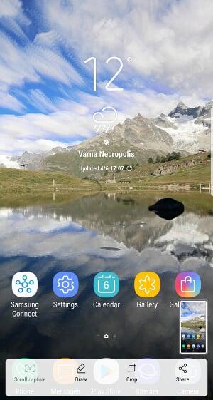 Galaxy S8 - способ съемки скриншота и 3 полезные опции