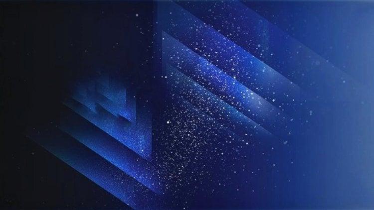 Звездное небо на экранных обоях для Samsung Galaxy S8