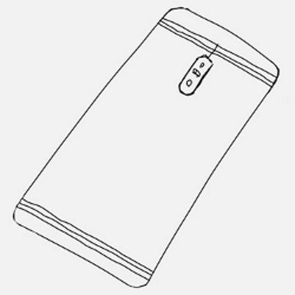 Вертикальное расположение двойной камеры в Samsung Galaxy C10 «показано» эскизом