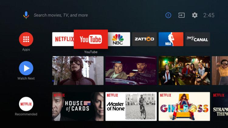 С Android O у Android TV появится новый интерфейс и Google Assistant