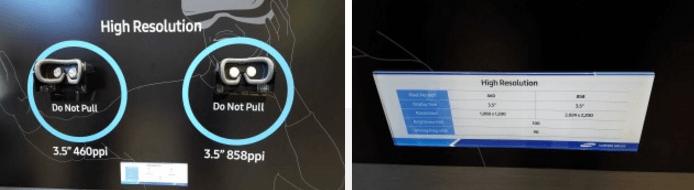 Показанный Samsung VR-дисплей содержит в 3,4 раза больше пикселей, чем экраны Oculus и Vive