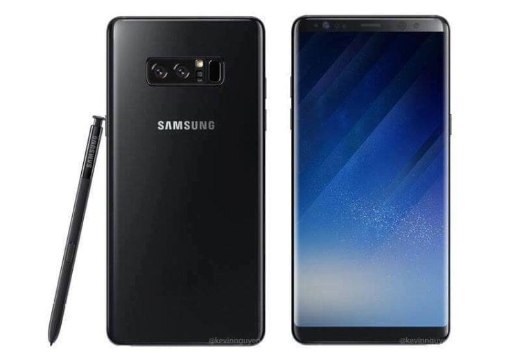 Новые концепт-рендеры предположительно Galaxy Note 8