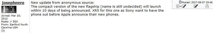 Когда Sony Xperia X Compact может появиться в продаже?