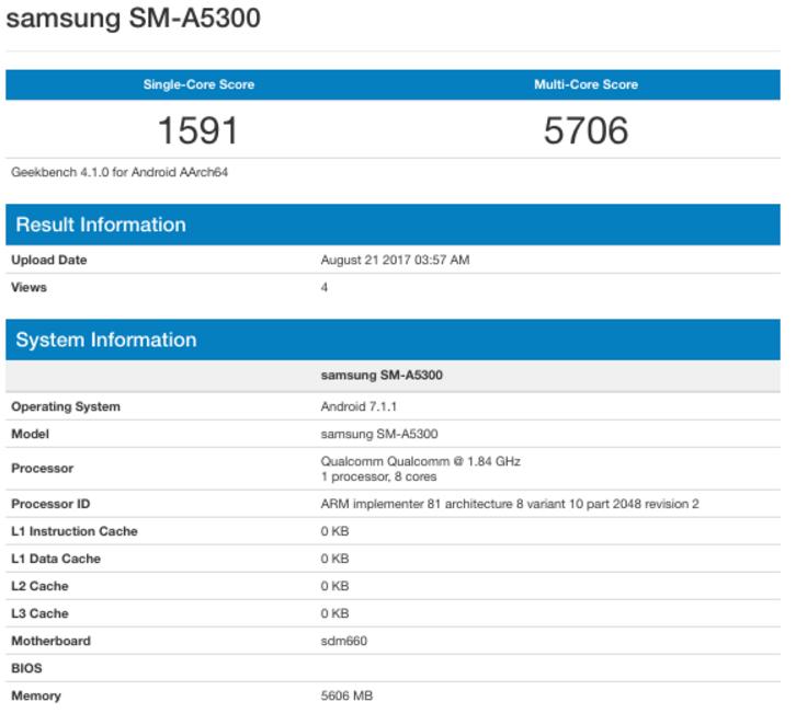 Новый Galaxy A5 мог показаться в Geekbench
