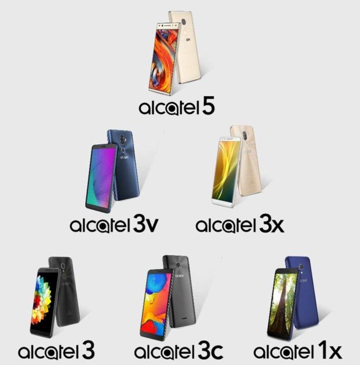 6 новых смартфонов Alcatel?