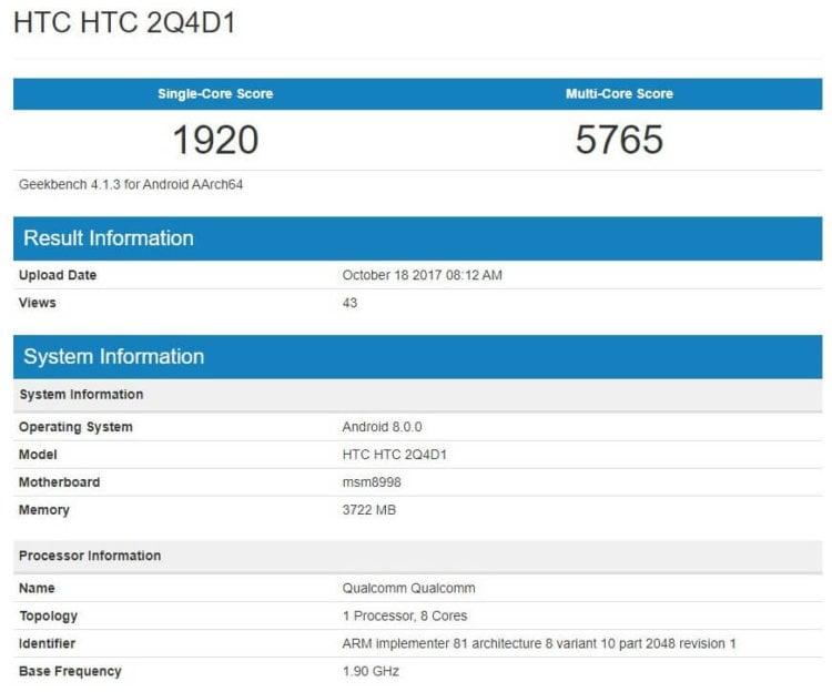 Характеристики HTC U11 Plus?