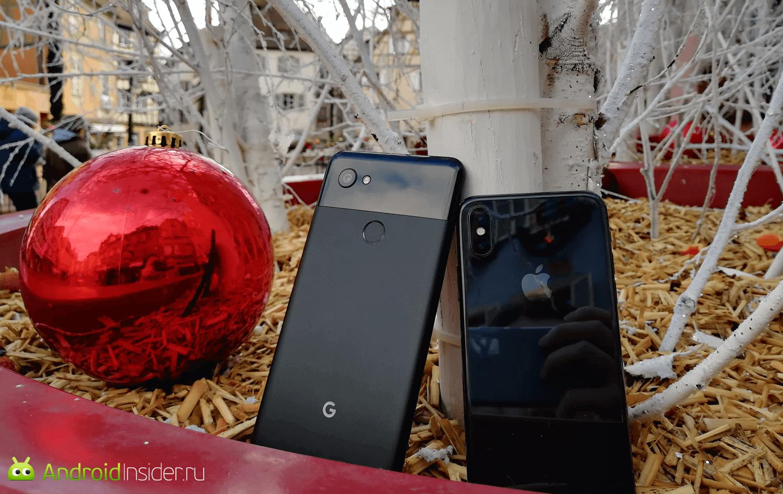 Видеообзор: Сравнение камер Google Pixel 2 и iPhone X