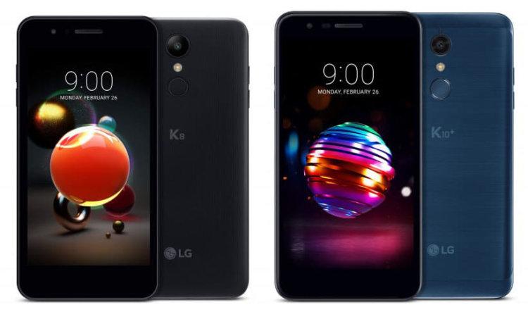 LG K8 (2018) и LG K10 (2018)