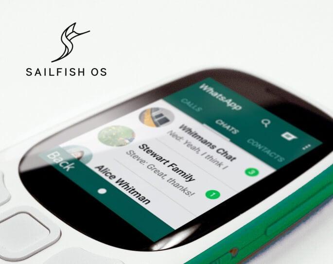 ОС Sailfish на кнопочном телефоне