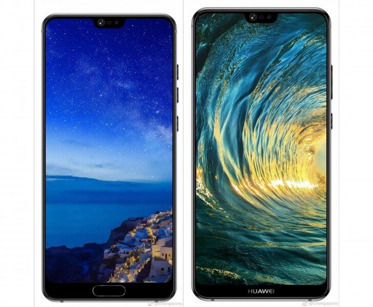 Рендеры Huawei P20 и P20 Pro