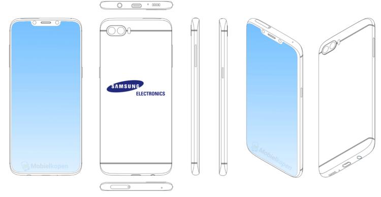 Эскиз патентуемого девайса Samsung