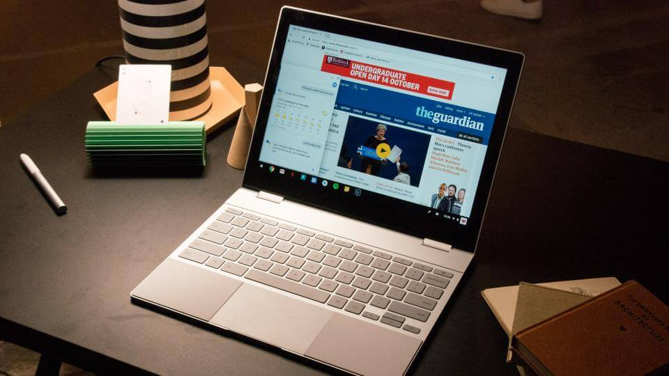 Как поменять обои на Chromebook?