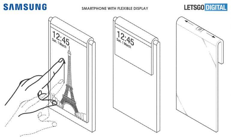 Samsung патентует смартфон без селфи-камеры